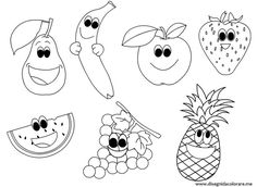 cartoon fruits coloring pages - Fruits Coloring Pages