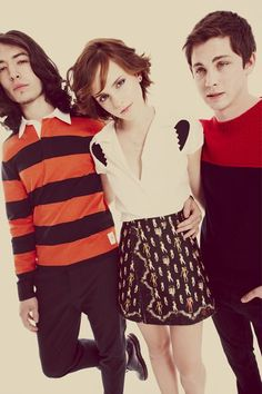 Emma Watson, Ezra Miller and Logan Lerman - Exclusive - Perks of Being A Wallflower outtakes (Set #6), 2012
