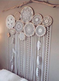 Dream catcher made with doilies!