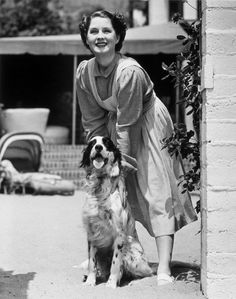 0 Norma Shearer and dog