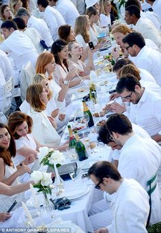 Everyone must be dressed in white
