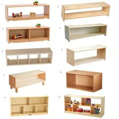 Montessori Low Infant/Toddler Shelves - Ideas and Options