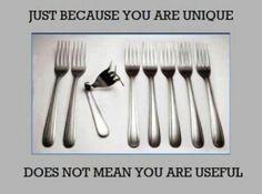 uniek is niet altijd bruikbaar