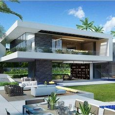 Home exterior designs are a vital portion of your house's curb appeal. Your house is your refuge and ought to reflect that, right to the exterior design. The building exterior has become the most important portion of a structure. Contemporary Decor, Contemporary Architecture, Interior Architecture, Contemporary Houses, Contemporary Apartment, Contemporary Building, Contemporary Wallpaper, Contemporary Chandelier, Contemporary Landscape