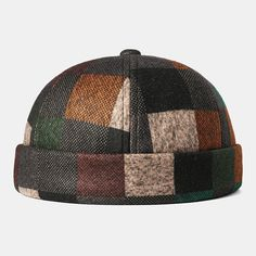 Brimless Skull Cap Multicolor Splicing Block Caps Soft Felt Customized Hats is hot sale on Newchic. Cuir Vintage, Letter Patterns, Hats Online, Hats For Men, Unisex, Caps Hats, Free Gifts, Felt, Sport