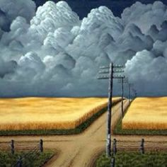 Clouds ~ Grey and Gold by John Cox