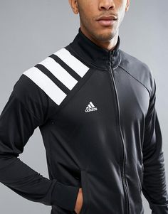 Adidas Tango Soccer Track Jacket In Black, Men's track jacket, Russo Track Jacket, Training Track suit, cold weather running, men's sports jacket, gym jacket, breathable, moisture wicking, athletic wear, gym wear, men's fitness, sports wear, health wear, weight loss wear, activewear, #affiliate, #ad