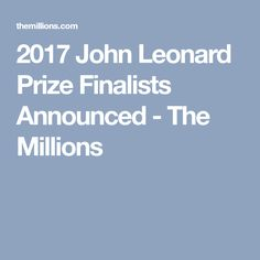 2017 John Leonard Pr