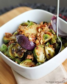 Brussel sprouts  are DELICIOUS ! I just thought I should mention that first before you skip this post. I can count on one hand the numbe...