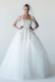 This wedding dress looks gorgeous with fancy applique and beads embellishment on the bodice and the top skirt. Tulle skirt may show your sweetness and elegance well. Free made-to-measurement service for any size. Available colors seen as in Color Options.
