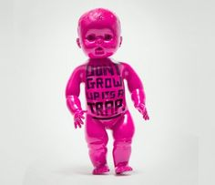 Don't grow up it's a trap! A reminder to self to explore, stay curious, open and interested like children do so easily, it's so easy to get wrapped up in more serious mindsets or boring routines. by Jessica Walsh and Timothy Goodman Timothy Goodman, Monochrome, Stefan Sagmeister, Young Guns, Best Artist, Personal Branding, Altered Art, Les Oeuvres, Growing Up