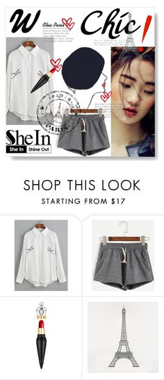 """""""shein"""" by lena123-1 ❤ liked on Polyvore featuring Rene, Christian Louboutin and DOMESTIC"""