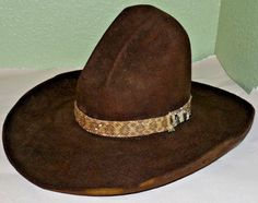 "OLD Vintage Stetson ""Buck Jones"" Cowboy 10-Gallon Hat Sheplers Last Drop Western"