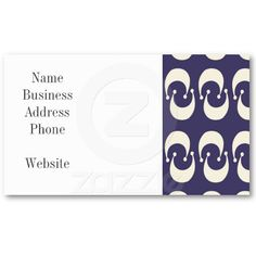 Modern Purple White Double Crescent Moon Pattern Business Card