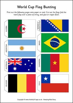 Printable Mini Flags of the World  willowday  Willowday Projects