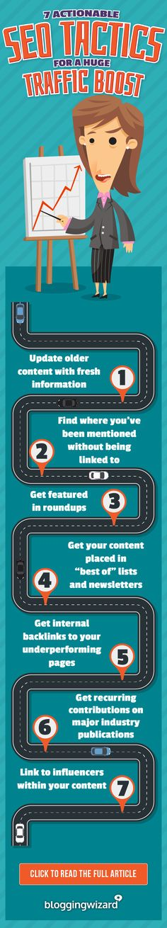 Want more traffic to your website? It's time to kick your SEO up a gear. Ignore it and you could miss out on a huge amount of traffic. Here are 7 actionable tactics you can put into action right away. via @adamjc - #seo #seotips #blogging #contentmarketing #searchengines #traffic #blogtraffic