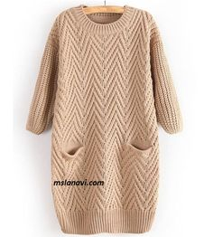 To find out about the Khaki Long Sleeve Cable Knit Pockets Sweater at SHEIN, part of our latest Sweaters ready to shop online today! Knitwear Fashion, Knit Fashion, Moda Crochet, Knit Crochet, Angora, Cotton Sweater, Tunic Sweater, Long Sweaters, Sweater Weather