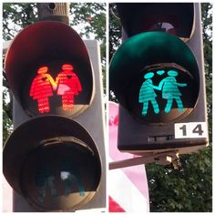 Traffic light in Vienna Austria