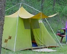 Vintage camping tent...we had one like this in the late 50's, early 60's.