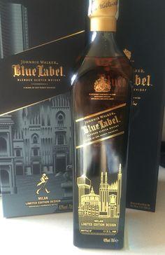Johnnie Walker Milan City Edition Scotch Whiskey, Bourbon Whiskey, Wine Drinks, Alcoholic Drinks, Cocktails, Johnnie Walker Whisky, Johnny Walker Blue Label, Whiskey Bottle, Vodka