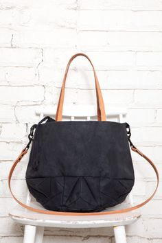 no 314 Crystal tote bag  waxed cotton  SALE by GenevieveSavard, $290.00