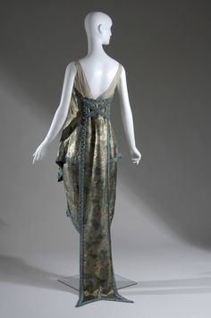 Evening dress, 1921. Metallic brocade, pearl and glass beads. Callot Soeurs, Paris.