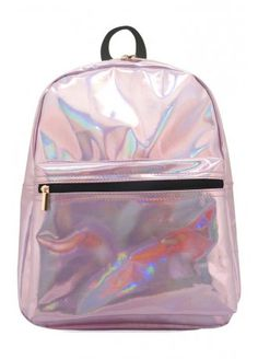 Pink Holographic Backpack, £19.99