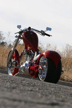 Big Bear Choppers - The Sled Choppers Chopper Motorcycle, Bobber Chopper, Motorcycle Design, Custom Choppers, Custom Harleys, Custom Street Bikes, Custom Bikes, Big Bear Choppers, Honda Fury