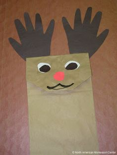 Christmas Crafts and Activity Guide 3-6 reindeer paper bag puppet