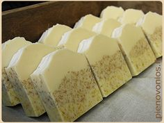 *Mild cocoa butter soap with goat's milk, chamomile and calendula