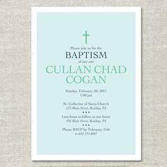 Simple Cross Custom Baptism Christening Invitation (Digital or Printed) on Etsy, $15.00