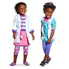 Ensemble de deux déguisements Docteur la Peluche pour enfants