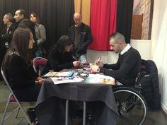 """En direct avec Benjamin et Marie-Françoise de la Mission Handicap de Disneyland Paris au """"JOB FORUM"""" d'Ajaccio ! Venez discuter avec nous sur notre stand, le forum est ouvert à tous. #emploi #job #jobs #disney #handicap #ajaccio #corse #forum"""