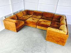 Ten-Piece Sectional Sofa Pit in the Style Milo Baughman by Selig | From a unique collection of antique and modern sectional sofas at https://www.1stdibs.com/furniture/seating/sectional-sofas/