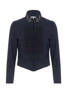 NOA NOA Soiree Taffeta Jacket in Black - £83.30 | NOA NOA Henley | International Shipping