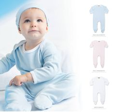 Contrast long sleeved sleepsuit with popper opening and feet. Pale Pink, Pink White, Contrast, Disney Princess, Disney Characters, Baby, Baby Humor, Infant, Disney Princesses