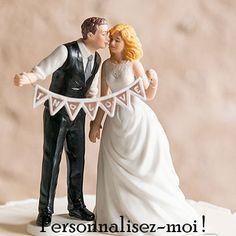 Figurine de mariage #ShabbyChic pour une décoration de mariage vintage et chic - http://www.instemporel.com/s/12597_221646_sujet-de-maries-shabby-chic