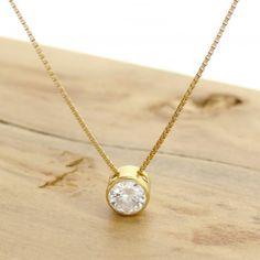 Jóias : Ponto de Luz com Diamante de 20 Pontos, em Ouro Amarelo 18 Kilates