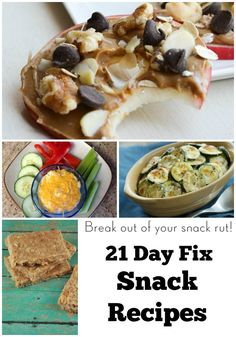 Break out of your snack rut with these healthy and delicious 21 Day Fix Snack Recipes and ideas from My Crazy Good Life