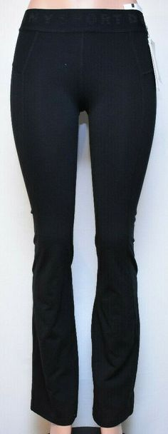 d5b6bcecc0 DKNY Women's Bootcut Fitness Athletic Leggings (DP7P1015) Color Black, Size  XS #DKNY