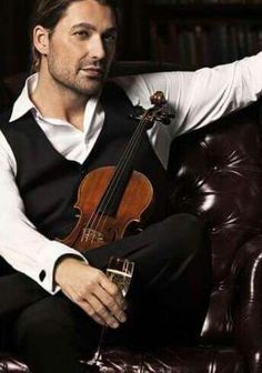 David Garrett. It's pleasing seeing him turn into a mature person. Here he looks like he's really got something going on behind his eyes.