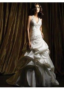 halter neck wedding dress a line plus size - Google Search