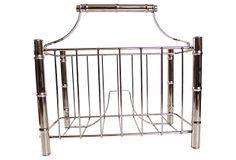 Stainless Bamboo-Style Magazine Rack on OneKingsLane.com $139