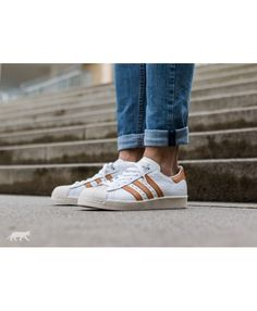Adidas Australia Superstar 80S Ftwr White Ftwr White Gold Metallic Trainers Adidas  Superstar Gold, Metallic ca06e0a9bf