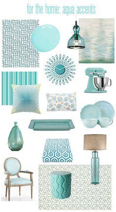 Using aqua in your decor...love