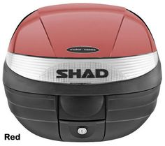 """Shad SH-29 motorcycle top case in garnet. Designed to attach to most flat luggage racks. Its dimensions are: 14.9"""" L x 15.7"""" W x 11.8"""" H   and has a 29 liter capacity. Your price is $125.95. With Free Shipping."""