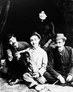 Toulouse Lautrec with cousin Louis Pascal, friends and dog, c.1883 Via Arte e Arti