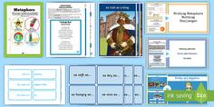 Looking to add a little poetic flair into your class' writing? Use this excellent resource pack full of great support for using similes and metaphors. Similes And Metaphors, Primary Resources, Interactive Activities, Eyfs, Phonics, Grammar, Lesson Plans, Challenges, Teaching