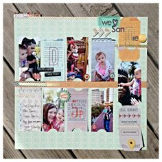 A layout I created for as a guest designer for BasicGrey. I loved the ticket motif on the new Carte Postale line and let it inspire my photo cropping/punching.