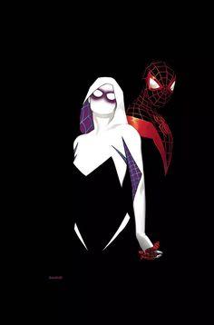 Homem-Aranha   Miles Morales e Gwen Stacy estão amando, em capas do crossover   Omelete
